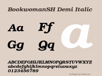 BookwomanSH Demi Italic 001.000 Font Sample