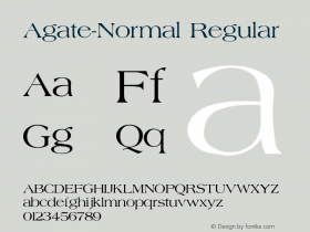 Agate-Normal Regular Converted from G:\TTFONTS\AGATE.TF1 by ALLTYPE Font Sample