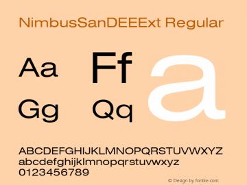 NimbusSanDEEExt Regular Version 001.005 Font Sample