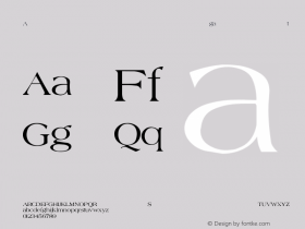 Agate-Normal Regular Converted from C:\EMSTT\AGATE.TF1 by ALLTYPE Font Sample
