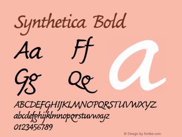 Synthetica Bold Macromedia Fontographer 4.1 04.12.2002 Font Sample