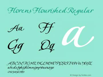 Florens Flourished Regular Macromedia Fontographer 4.1 07.06.2001 Font Sample