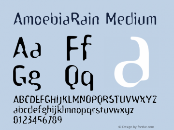 AmoebiaRain Medium Version 1.00 Font Sample
