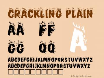 Crackling Plain Altsys Fontographer 3.3  3/5/92 Font Sample