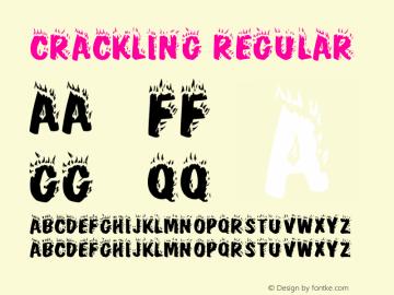 Crackling Regular Altsys Metamorphosis:4/9/92 Font Sample