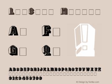 LeeCaps Medium 001.001 Font Sample