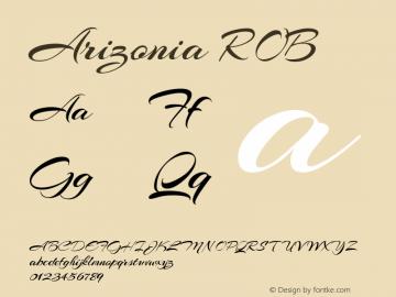 Arizonia ROB Macromedia Fontographer 4.1.5 8/30/07 Font Sample