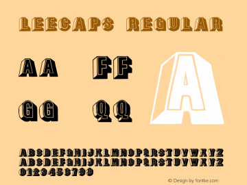 LeeCaps Regular Converted from F:\X\LEECAPS.TF1 by ALLTYPE Font Sample