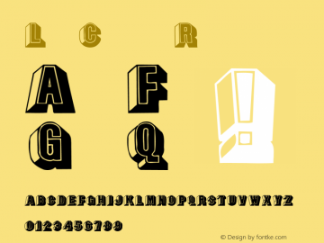LeeCaps Regular Converted from C:\TTFONTS\LEECAPS.TF1 by ALLTYPE Font Sample