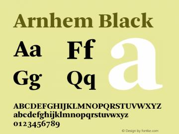 Arnhem Black 001.000 Font Sample