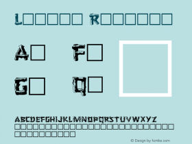 Logger Regular Altsys Metamorphosis:3/8/92 Font Sample