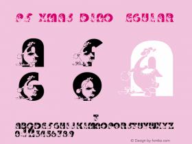pf_xmas_dino Regular 2001; 1.0, initial release Font Sample