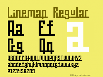 Linemap Regular Macromedia Fontographer 4.1.5 16/09/02图片样张