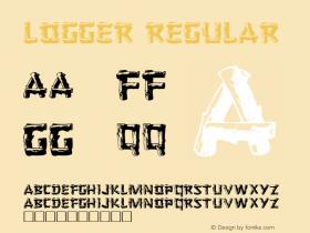 Logger Regular Altsys Fontographer 3.5  7/1/92 Font Sample