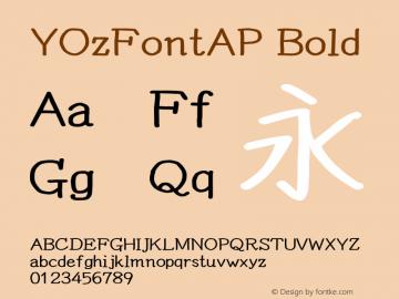 YOzFontAP Bold Version 13.0 Font Sample