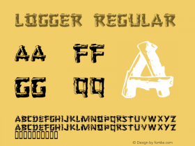 Logger Regular 1.21 Font Sample