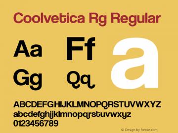 Coolvetica Rg Regular Version 4.200 Font Sample