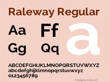 Raleway Regular Version 1.006 Font Sample