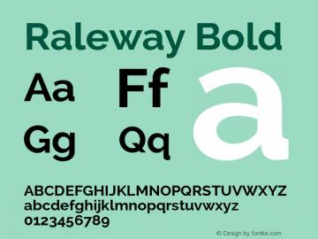 Raleway Bold Version 2.000 Font Sample