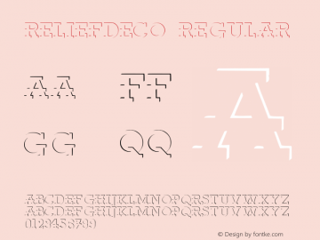 ReliefDeco Regular Converted from C:\TTFONTS\RELIEF.TF1 by ALLTYPE Font Sample