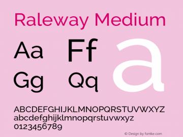 Raleway Medium Version 2.002 Font Sample