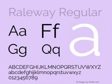 Raleway Regular Version 2.500 Font Sample