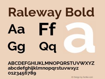 Raleway Bold Version 2.500; ttfautohint (v0.95) -l 8 -r 50 -G 200 -x 14 -w