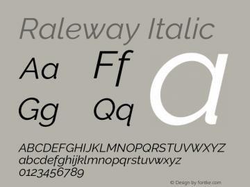 Raleway Italic Version 3.000; ttfautohint (v0.96) -l 8 -r 28 -G 28 -x 14 -w