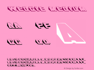 Wedgie Medium 001.001 Font Sample