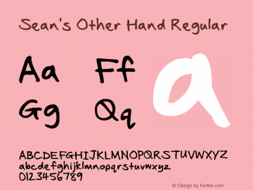 Sean's Other Hand Regular Version 1.00 February 10, 2010图片样张