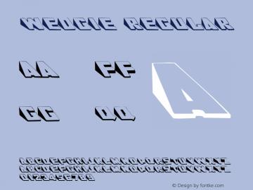 Wedgie Regular Altsys Metamorphosis:3/8/92 Font Sample