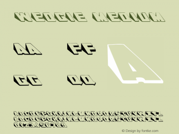 Wedgie Medium 001.000 Font Sample