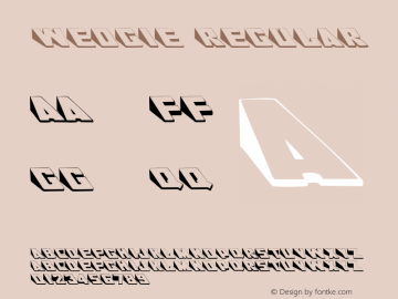 Wedgie Regular Converted from f:\x\WEDGIE__.TF1 by ALLTYPE Font Sample