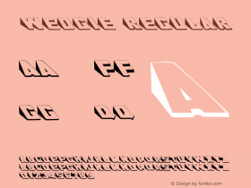 Wedgie Regular Converted from c:\windows\system\WEDGIE__.TF1 by ALLTYPE Font Sample
