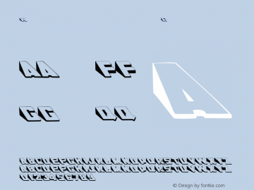 Wedgie Regular Converted from C:\EMSTT\WEDGIE.TF1 by ALLTYPE Font Sample