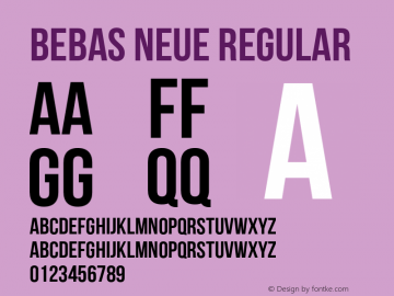 Bebas Neue Regular Version 1.000 Font Sample