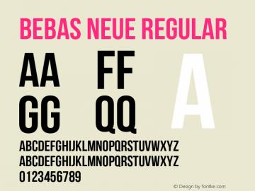 Bebas Neue Regular Version 1.100 Font Sample