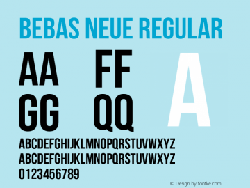 Bebas Neue Regular Version 1.300 Font Sample