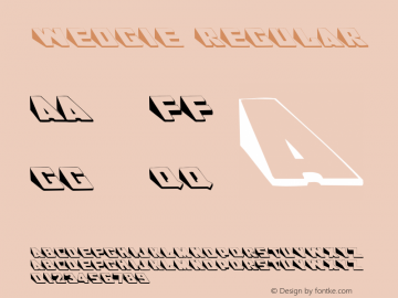 Wedgie Regular Converted from C:\TTFONTS\WEDGIE__.TF1 by ALLTYPE Font Sample