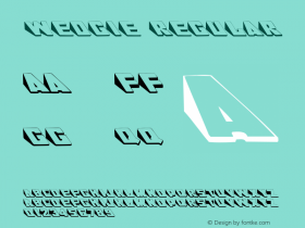 Wedgie Regular Converted from c:\windows\system\WEDGIE.TF1 by ALLTYPE Font Sample