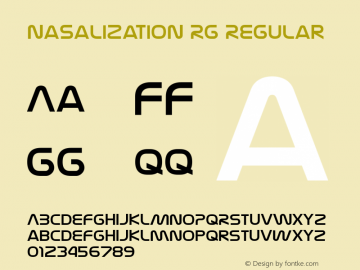 Nasalization Rg Regular Version 4.000 Font Sample