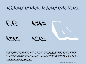 Wedgie Regular 001.000 Font Sample