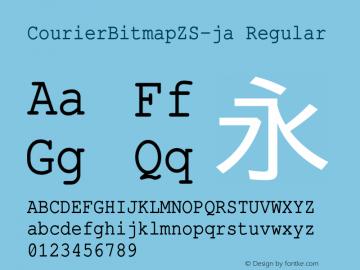CourierBitmapZS-ja Regular Version 001.000-1.165-20100610图片样张