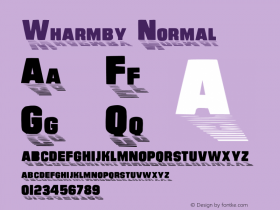 Wharmby Normal 1.0 Sun Aug 28 09:19:49 1994 Font Sample