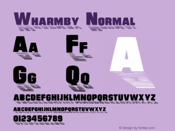 Wharmby Normal 1.0 Sun Aug 28 09:19:49 1994 Font Sample