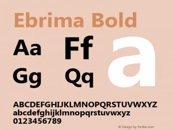 Ebrima Bold Version 5.00 Font Sample