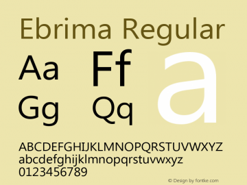 Ebrima Regular Version 5.00 Font Sample