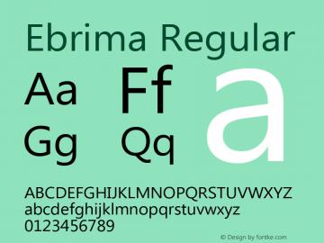 Ebrima Regular Version 5.02 Font Sample