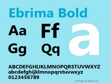 Ebrima Bold Version 5.02 Font Sample