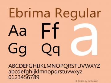 Ebrima Regular Version 5.04 Font Sample